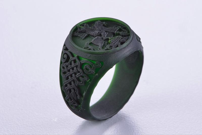 castable ring prototype printed on the phrozen shuffle