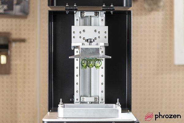 The build area of the Phrozen Shuffle 3D Printer