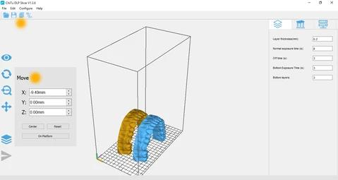 The printer software, NanoDLP, is able to slice your 3D models directly onboard