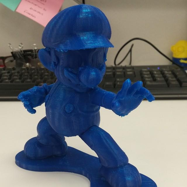 The Super Mario in the picture you see was built in PLA at 200 microns resolution.