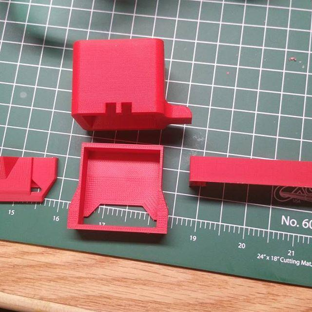 As an example, see these parts printed in red ABS.