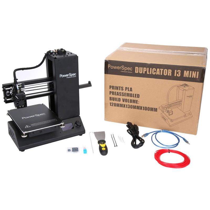 what's in the PowerSpec i3 Mini 3D Printer box