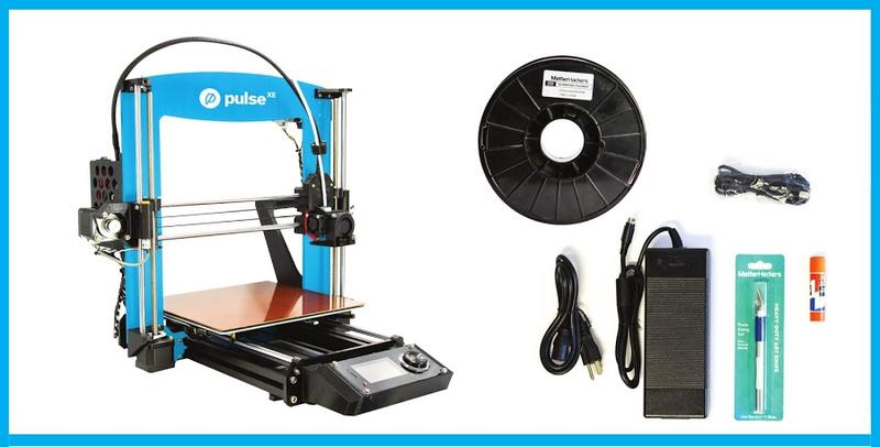 What's in the box pulse 3d printer