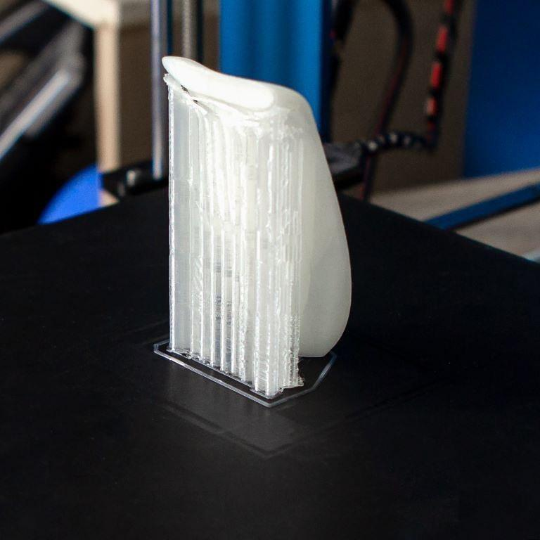 The BuildTak sheet applied to the heated bed enhances first layer adhesion reducing the risk of spending filaments and time for failure prints.