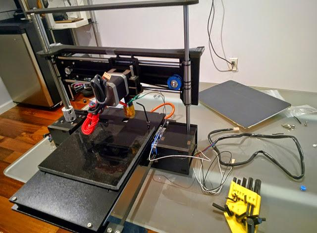 All parts required to set up the Q3D TwoUp printer