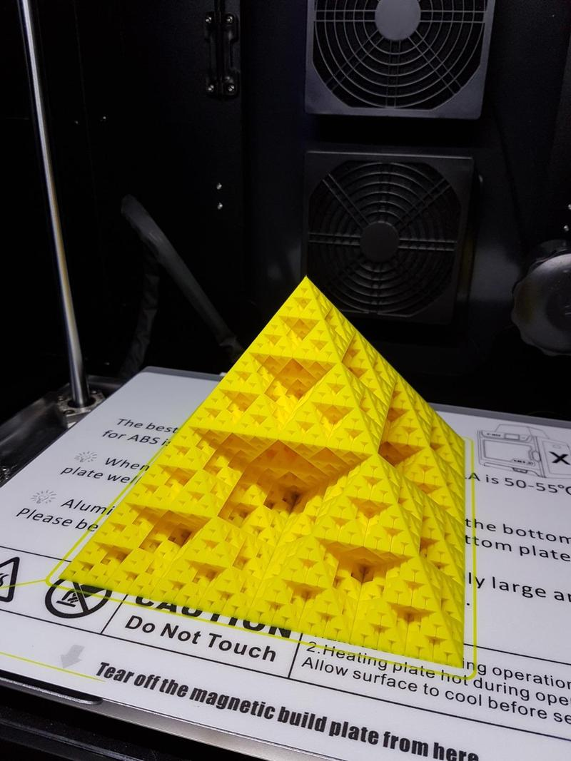 intricate pyramid. Look how smooth, accurate and extremely reach in details it is. The print quality is remarkable.