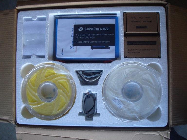 What's in the box Qidi Tech X-Pro 3d printer