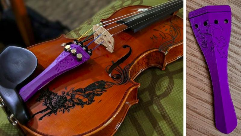 The following violin tailpiece designed by Vanessa has been printed with ABS. It took three hours and turned out good.
