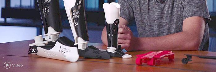 John Gardner is a student that has been developing a bunch of interesting 3D printed objects, including an electric skateboard and custom-fit prosthetic limbs. He started using the Raise3D printers as an educational tool at the Foothill High School
