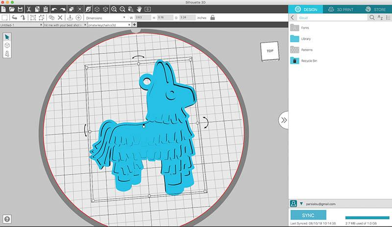 The printer comes with the proprietary slicing software, Silhouette 3D. It allows resizing and customizing your own design and adjusting the print settings according to your needs. It works with 3D models in S3D, STL, and OBJ formats.