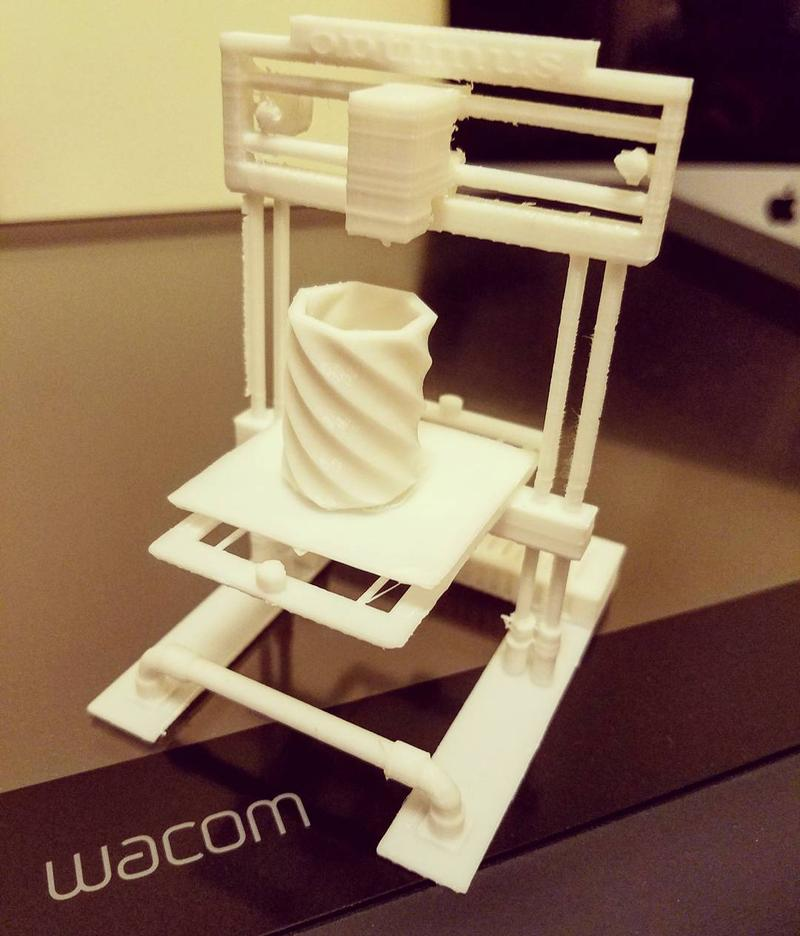 The build area of 8.3 x 7.9 x 7.4 inches (210 x 200 x 189 mm) lets you create just about anything, even a custom 3D printer.