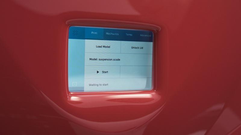 The 4-inch user interface of 3d printer Sinterit Lissa