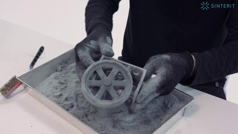 Sinterit Lisa prints with PA12 powder, TPU powder, and other powder materials