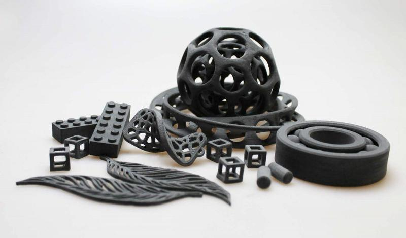 the some models printed on the Sinterit Lisa Pro 3D printer