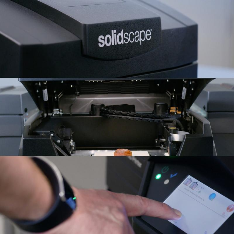 the built-in LCD interface of the Solidscape S350 Wax Model 3D Printer for Jewelry