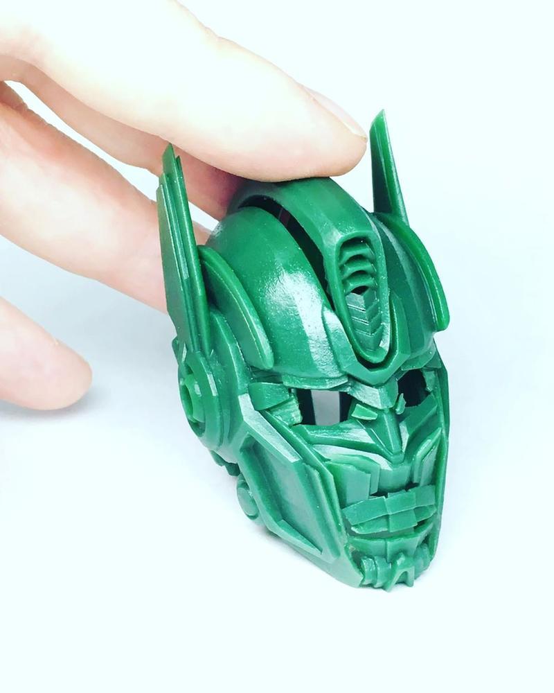 head of transformer printed sprintray moonray 3d printer