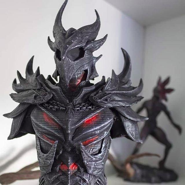 skyrim character 3d printed