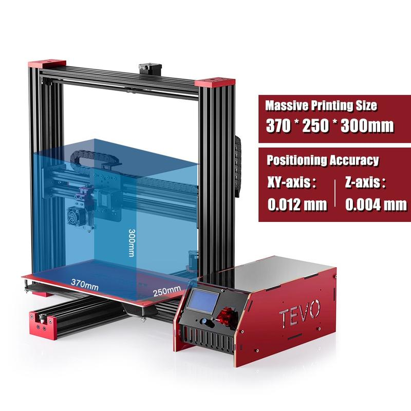 build volume of 3d printer tevo black widow