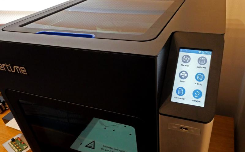 a responsive, color touchscreen display. The printer might also be operated from the UP Studio software over Wi-Fi.
