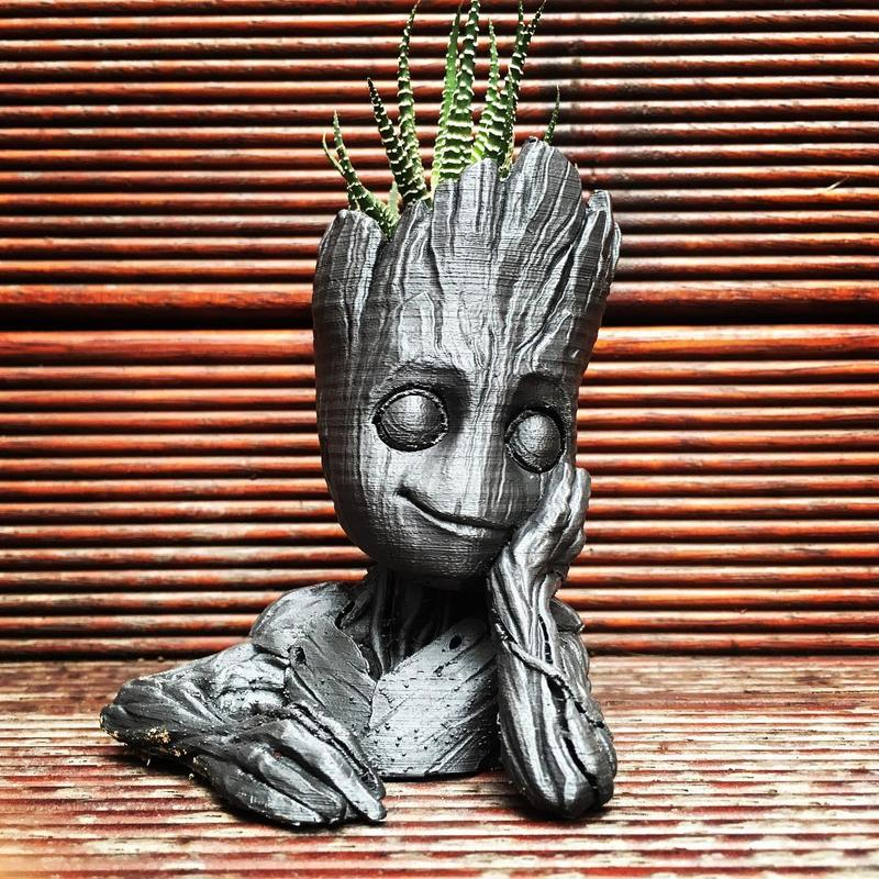"Notice how good this baby Groot from ""Guardians of the Galaxy 2"" looks."