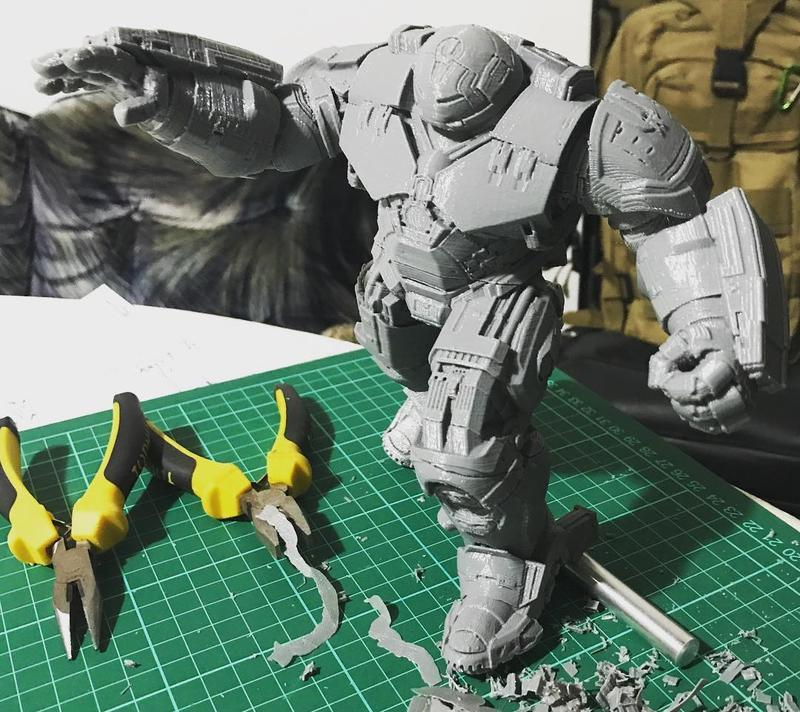 The build area of 8.7 x 8.7 x 9.4 inches (220 x 220 x 240 mm) lets you print just about anything., even a Hulkbuster to conquer the 3d printing world.