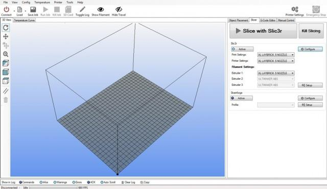 Repetier-Host, works with 3D models in STL and G-code formats and is available for Windows, Linux and Mac
