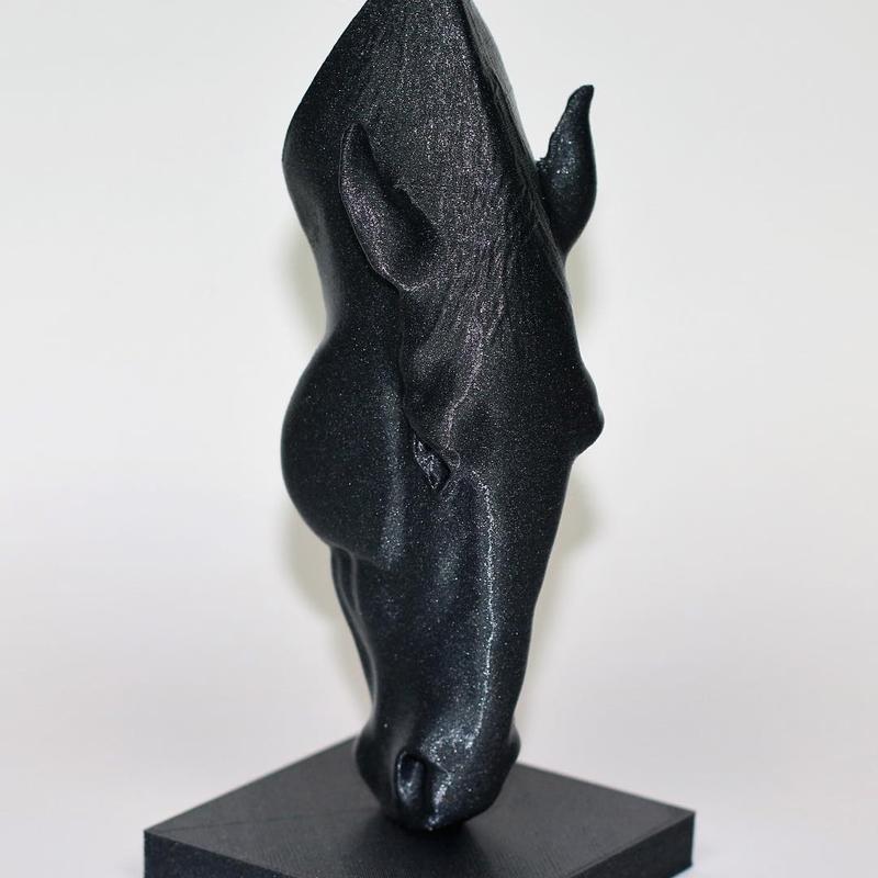 horse head printed on 3D printer pronxy p802m