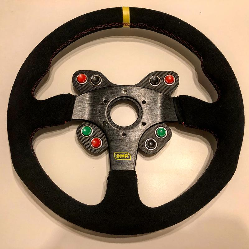 printed this racing wheel button panel to upgrade its racing car