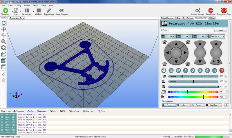 The printer works with all the open-source slicing software (Cura, Slic3r, Repetier, etc.). Tronxy recommends using Repetier-Host which is available for Windows, Linux and Mac.
