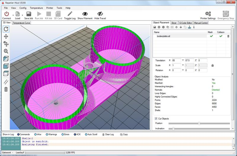 It works with all the open-source slicing software (Cura, Slic3r, Repetier, etc.). Tronxy recommends using Repetier-Host which is available for Windows, Linux, and Mac.