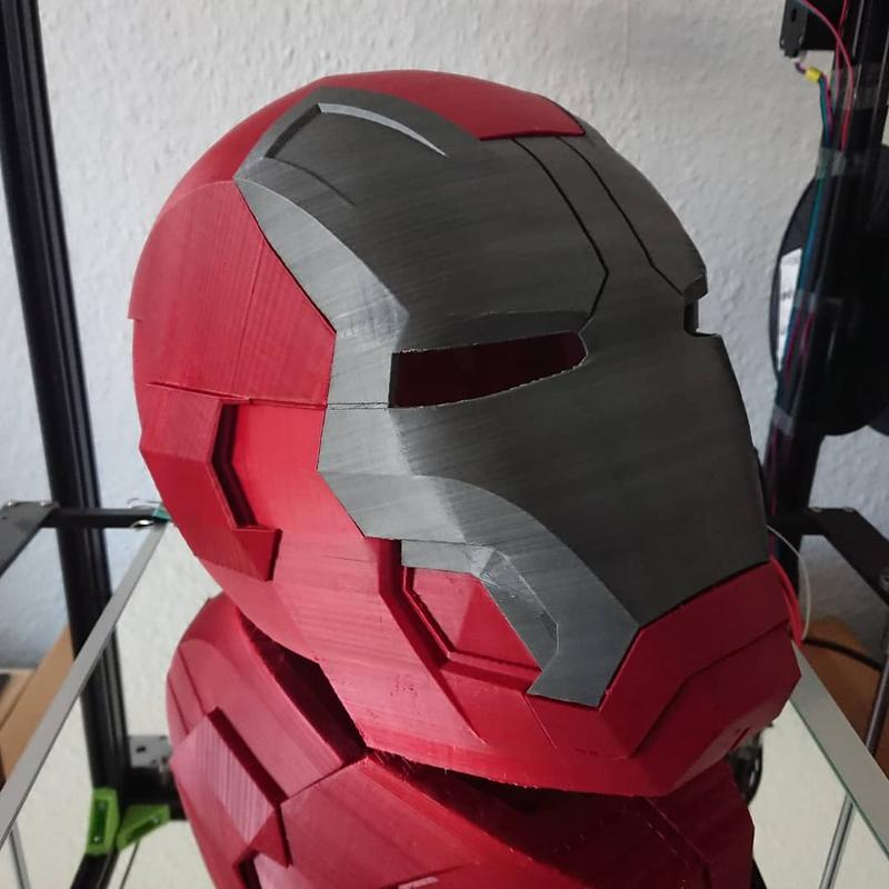 this Iron Man helmet was finally finished