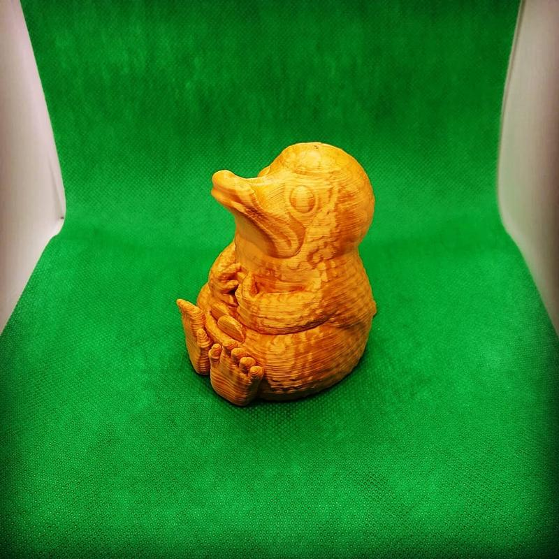 duck printed on 3D printer