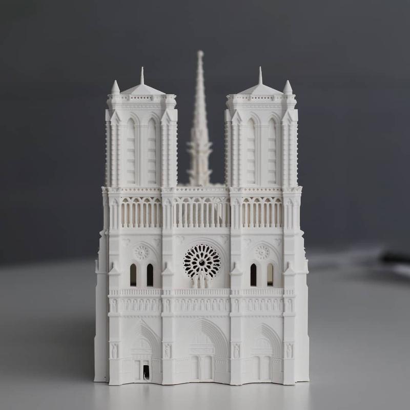 3d printed notre dame de paris cathedral