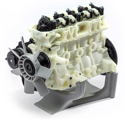 This 3D printed engine shows the dimensional accuracy and smoothness achievable with the Vshaper 500. The printing layers are not even visible