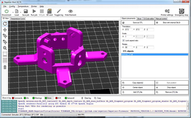 The printer software works with Cura, Repetier-Host, Simplify 3D and other commercial slicers