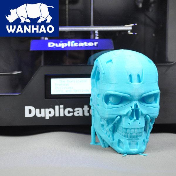 Its design allows for good quality, accurate prints, just like the Terminator's skull shown in the picture.