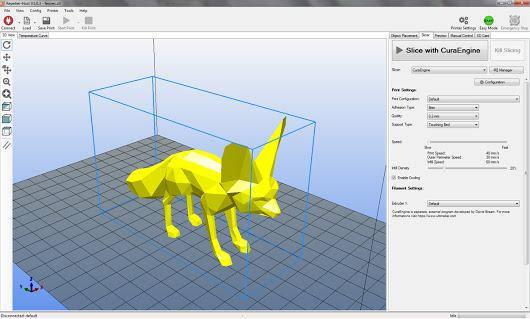 The printer supports all the commercial 3D printing slicing software, which are available for Windows, Linux, and Mac OS as well. It works with 3D models in STL format.