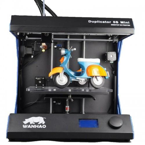 The Wanhao Duplicator 5S Mini has a heated print bed, which makes it suitable for printing with ABS-type materials.