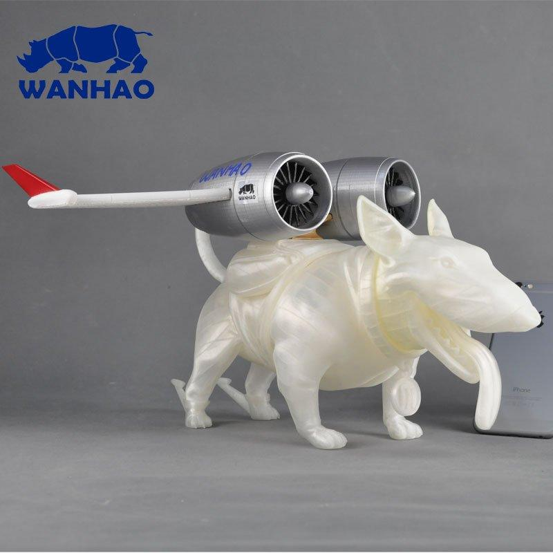 The dog with aero engine printd on th 3d printr wanhao duplicator 5s mini