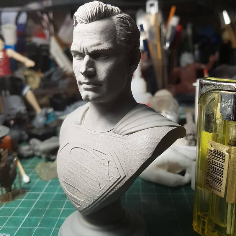Superman bust printed wanhao duplicator 8