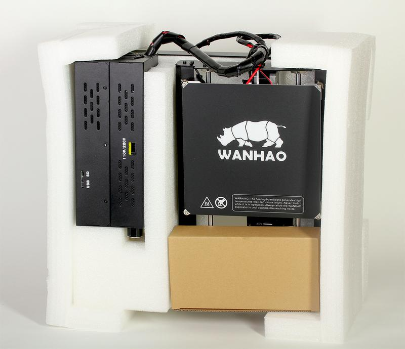 What's in the box on the wanhao duplicator 4s 3d printer