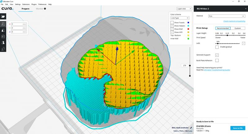 Thanks to its open-source nature, the printer is compatible with the Cura, slic3r, Repetier, Kisslicer and other commercial slicing software.