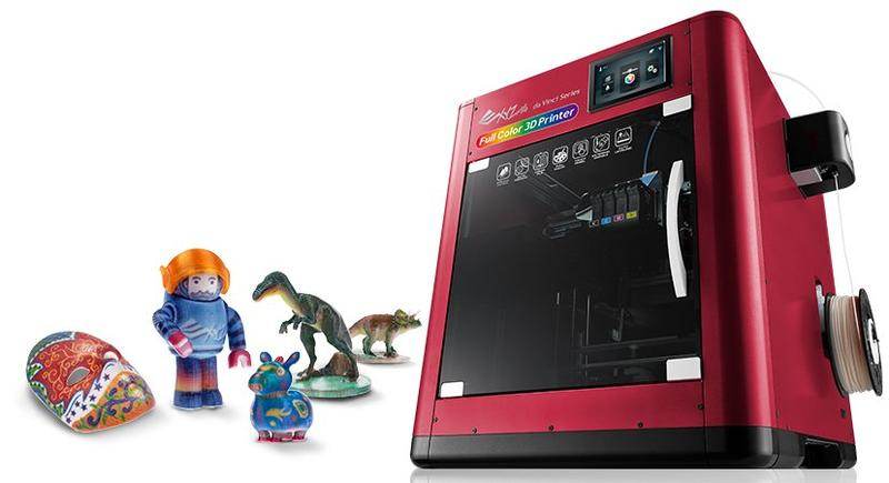 XYZprinting da Vinci Color 3D printer with 3D models