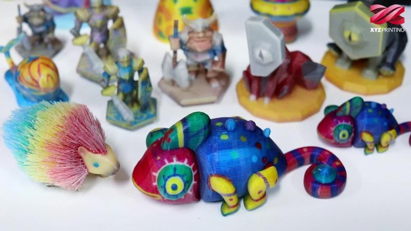 Models printed on the XYZprinting da Vinci Color 3D printer