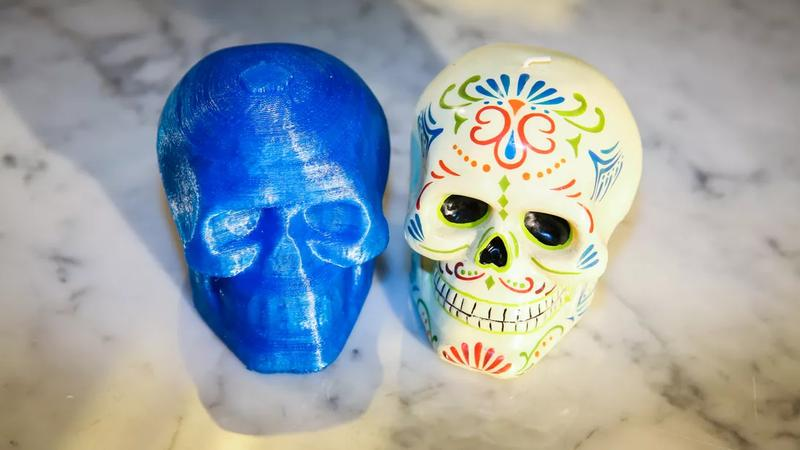 One user tested both the 3D scanner and the printer. The printed replica looks quite identical to the original skull