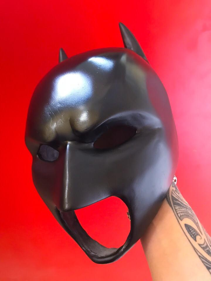 3D printed this custom Batman mask. Notice how polished and defined it is.