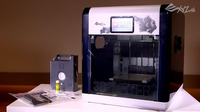 what's in the box XYZprinting da Vinci 1.1 Plus 3D printer