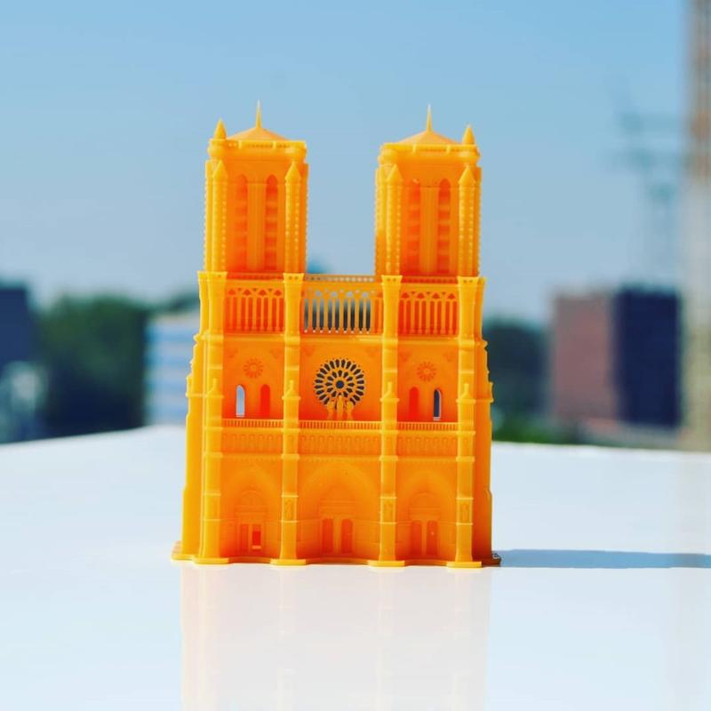 A look at his 3D printable models will take you to amazing places, even to the Cathédrale Notre-Dame de Paris.