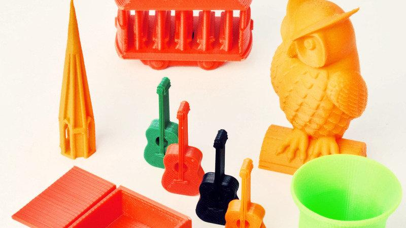 models printed on the XYZprinting Da Vinci Junior 1.0 3D printer