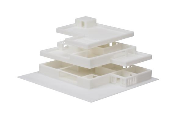 The printer is also widely adopted to create accurate architectural models. Indeed, it perfectly reproduces the dimensions needed for the model to fit together tightly.